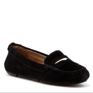 Sam Edelman Jones Black Suede Moc Penny Loafer